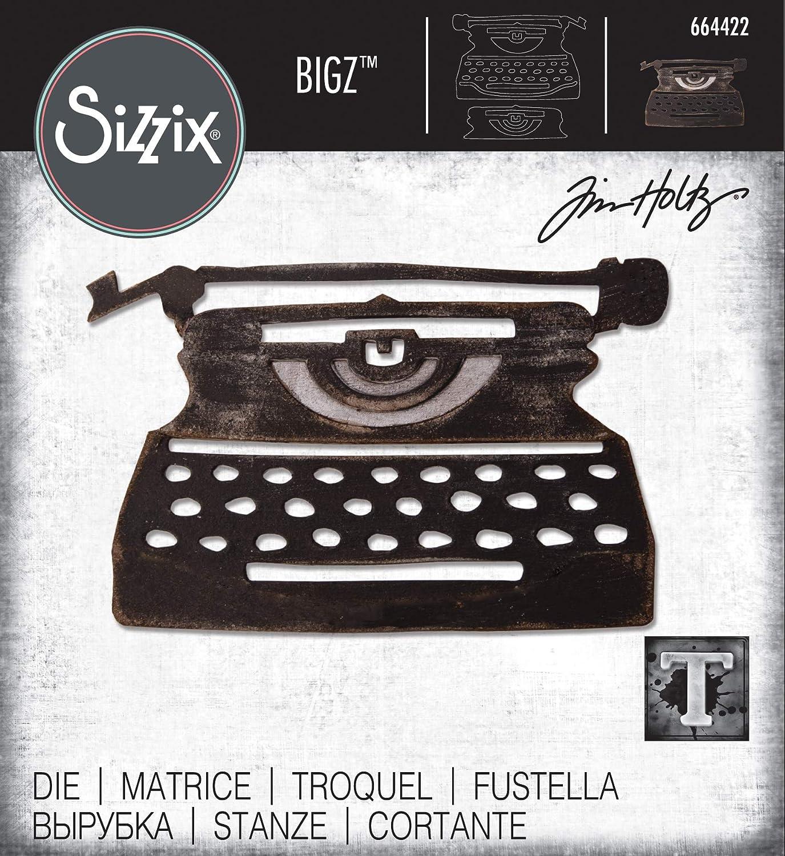 Multicolor Sizzix Bigz Die 664422 Retro Type by Tim Holtz