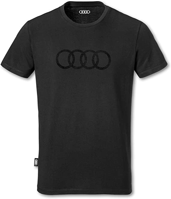 Camiseta para hombre original de Audi, anillos, color negro ...