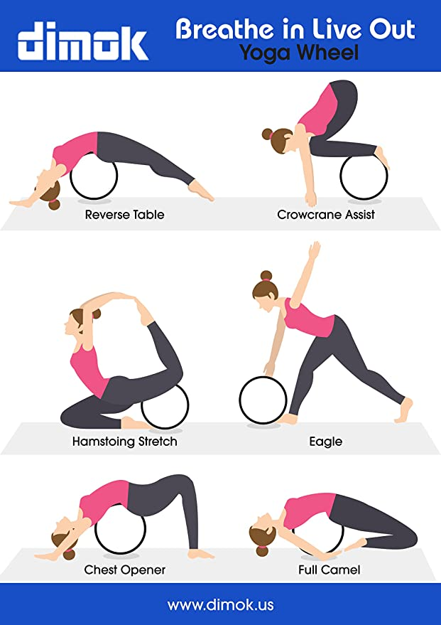 Amazon.com : dimok Yoga Wheel Strap and Massage Ball Combo ...