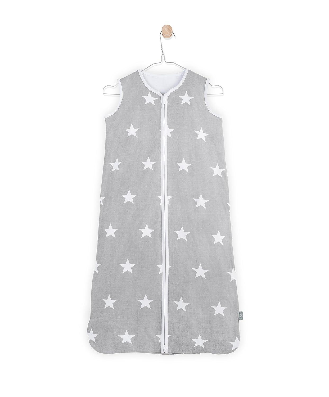 Jollein 049-516-64966 Schlafsack Sommer Jersey Little Star grau 90 cm