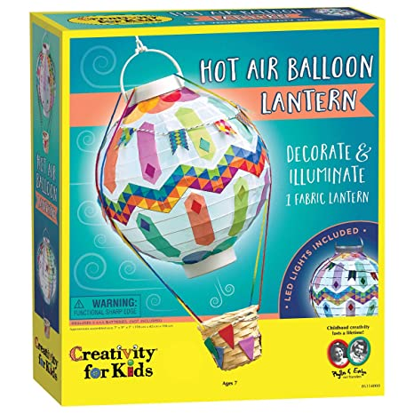 Amazon Com Creativity For Kids Hot Air Balloon Lantern Craft Kit