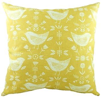 1bf6a783c7d Evans Lichfield Nordic Birds 100% Cotton Scandanavian Throw Filled Cushion  Pillow