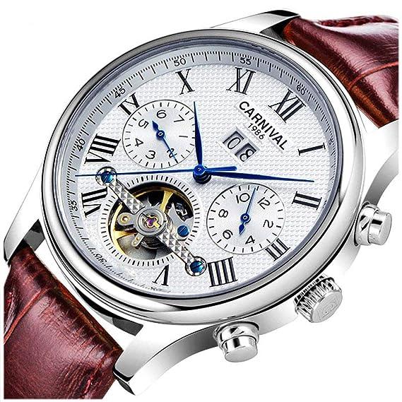 Para Automático Carnival Mecánico HombreImpermeable Reloj pSUzVMq