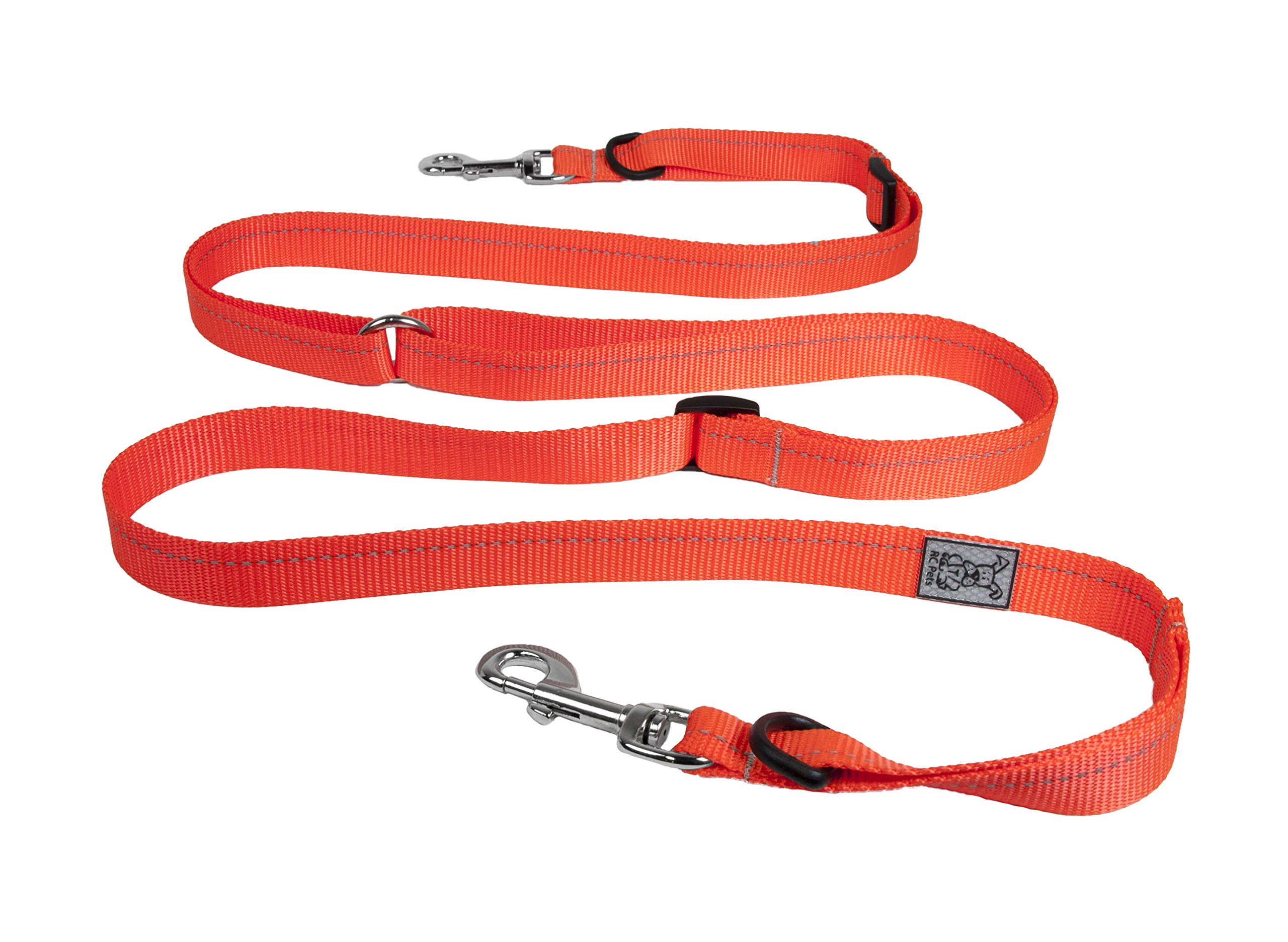 RC Pet Products 3/4 Primary Collection 3-in-1 Active Dog Leash, Orange