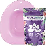 Female Rituals - Yoni Steam Seat Kit with Yoni Steam Herbs (4 Ounce) Bundle - Yoni Steam Seat for Toilet - Yoni Steam…