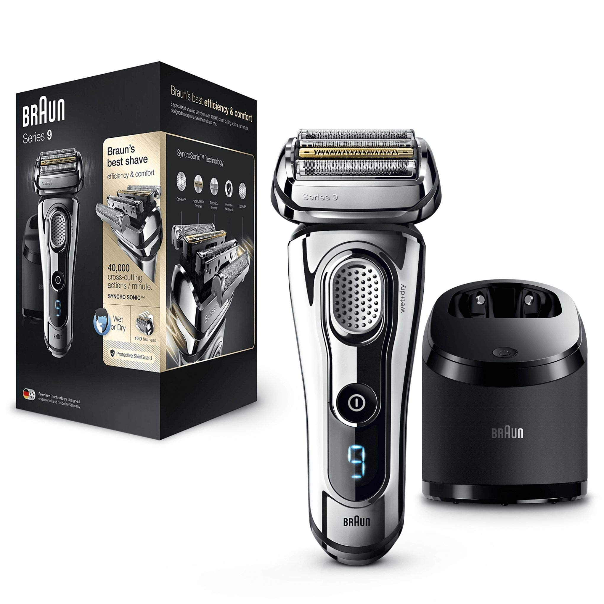 Braun Series 9 9296 cc Wet&Dry - Afeitadora eléctrica Hombre, para barba, con Estación de Limpieza Clean&Charge product image