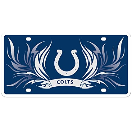 2bd92970 NFL Indianapolis Colts Styrene Plate- Flame Style