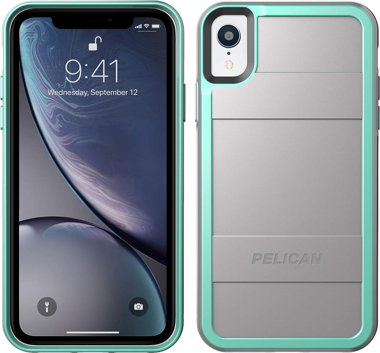 Pelican Protector iPhone XR Case (Grey/Aqua)