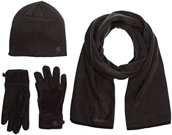 3a028ed1c88 Craghoppers Lightweight Essential II Men s Outdoor Fleece Gloves available  in Black Pepper - Small Medium