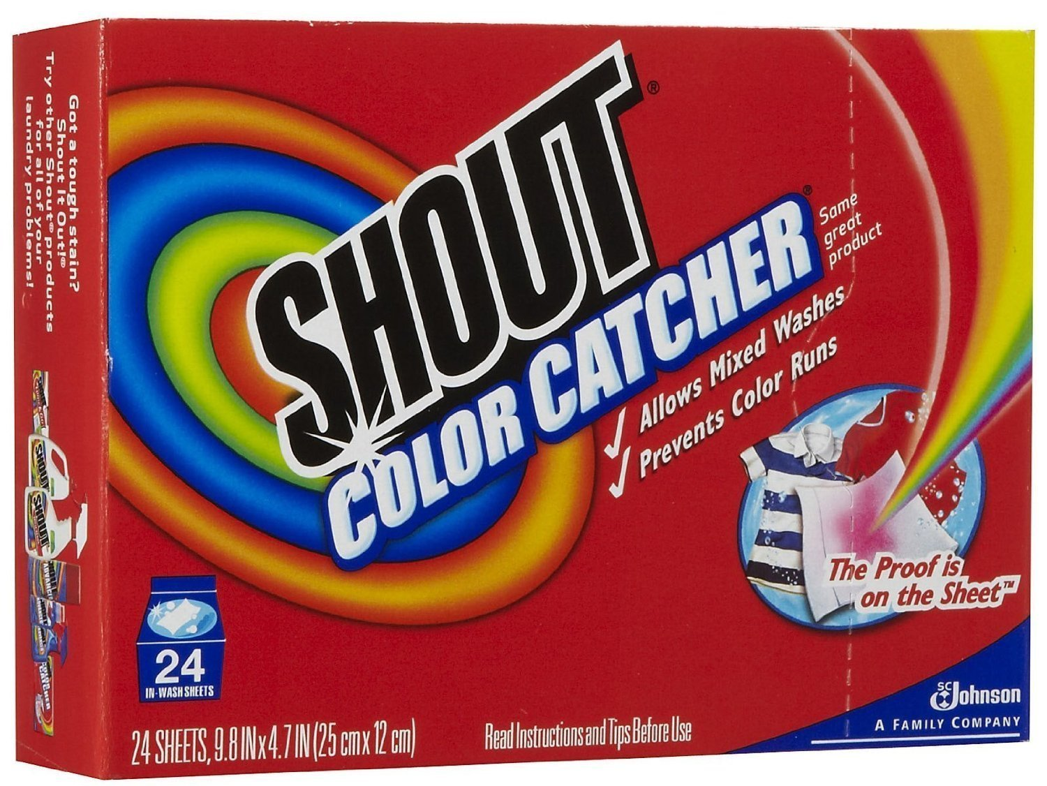 Shout Washer Sheets - 24 ct - 2 pk