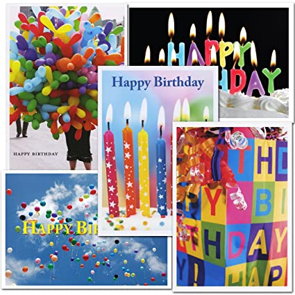 Amazon Birthday Greeting Card Assortment 2 Each Of 5