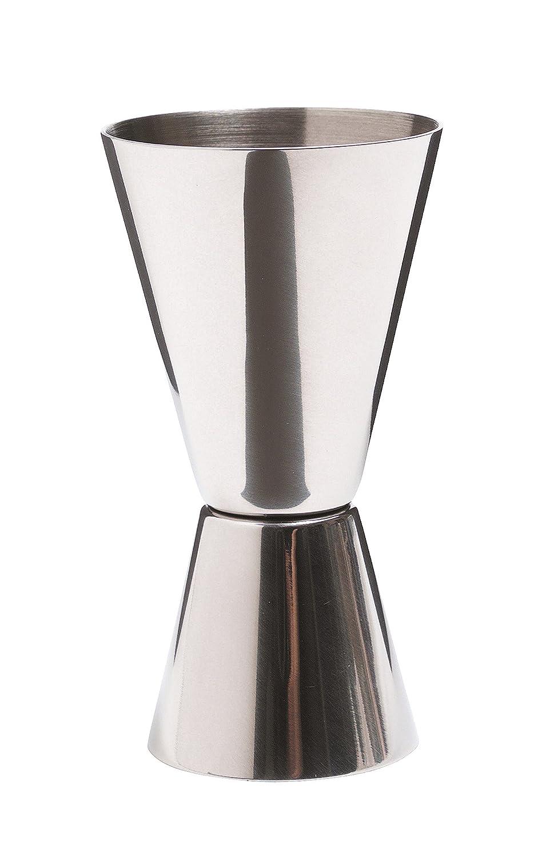 KitchenCraft KCBCJIG Bar Craft Cocktail Jigger Dual Spirit Measure Cup, Stainless Steel, Silver Kitchen Craft Drinksware Spirit & Shot Glasses Drinkware