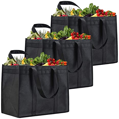 Amazon.com: NZ Home XL bolsas de comestibles reutilizables ...