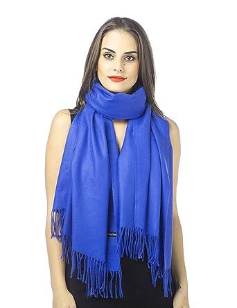 Haojing Écharpe Souple en Cachemire Super Soft Solide Pashmina Emballage  Châle Écharpe pour Femmes Hommes Amoureux abb606cbb36