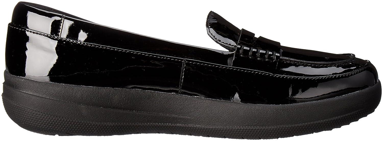 FitFlop F-Sporty TM Penny Loafer, Pompes à Plateforme Plate Femme - Noir - Nero (Black), 39 EU