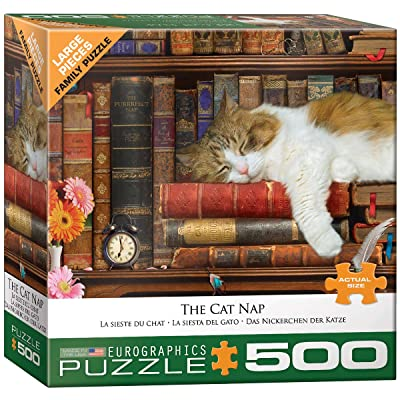 EuroGraphics The Cat Nap 500-Piece Puzzle: Toys & Games