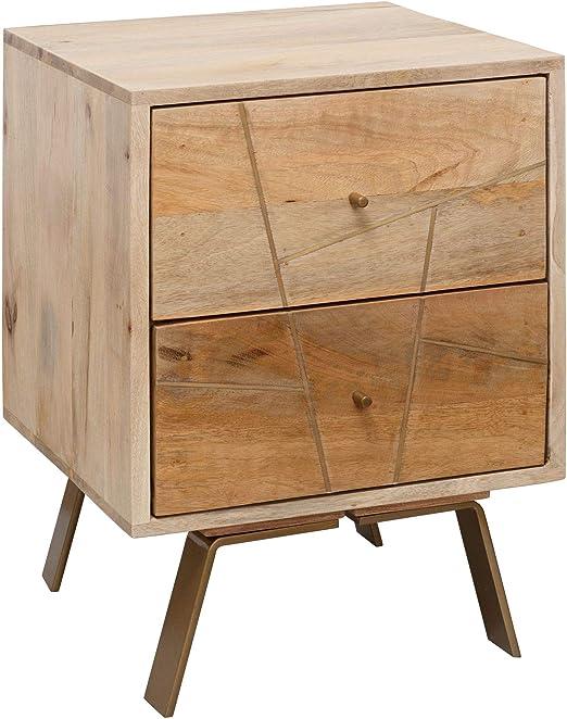 Wohnling Noche Consola sikar 40 x 56 x 40 cm mango madera maciza ...