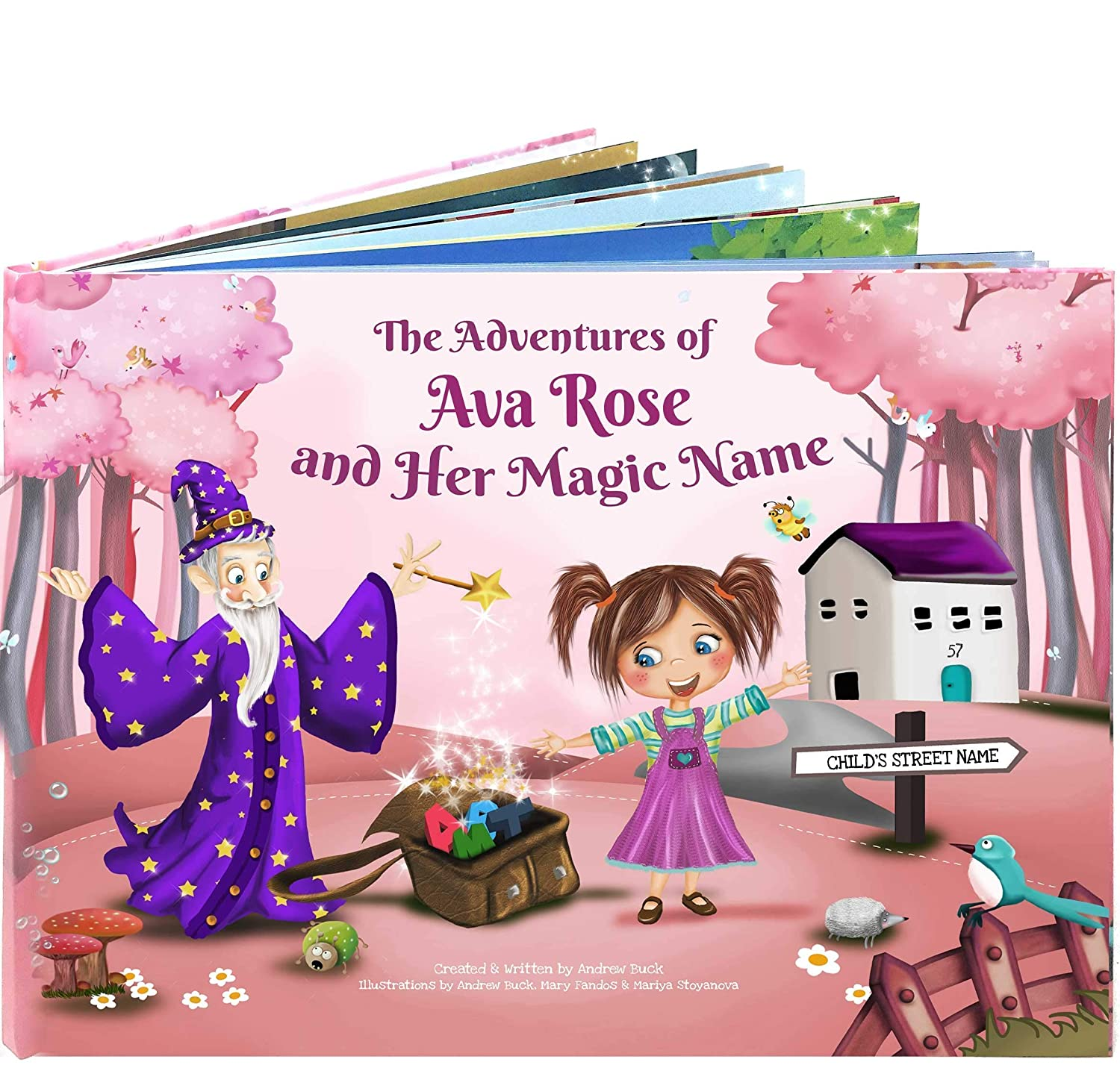Personalised Keepsake Story Book for Baby and Children. A Unique Keepsake Story Based on the Letters of a Child's Name. Pink for Girls, Blue for Boys.