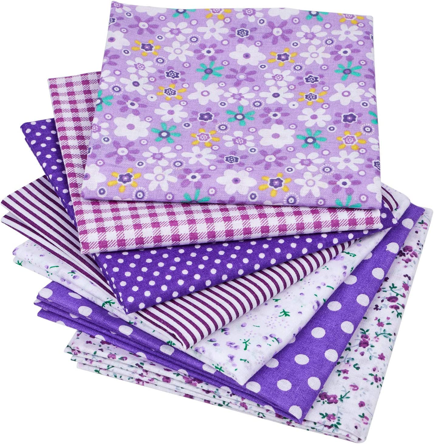 7Pcs 20 x 20 Floral Cotton Fabric DIY Mask Making Supplies Quilting Patchwork Fabric Fat Quarter Bundles DIY for Quilting Patchwork Cushions Cotton Fabric for Patchwork