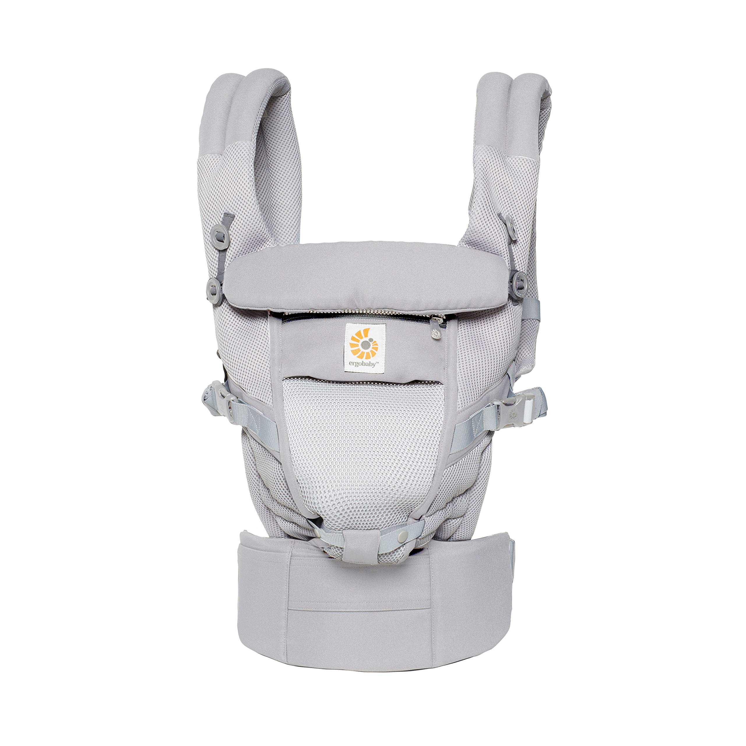 Ergobaby Adapt Baby Carrier, Infant To Toddler Carrier, Pearl Grey, Cool Air Mesh, Multi-Position, Pearl Grey