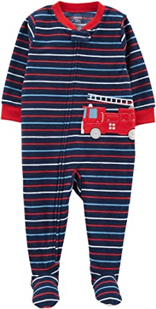 7aa89420f Carter's Baby Boy's One Piece Fleece Pajamas 12M-5T, Fire Rescue, 12 Months