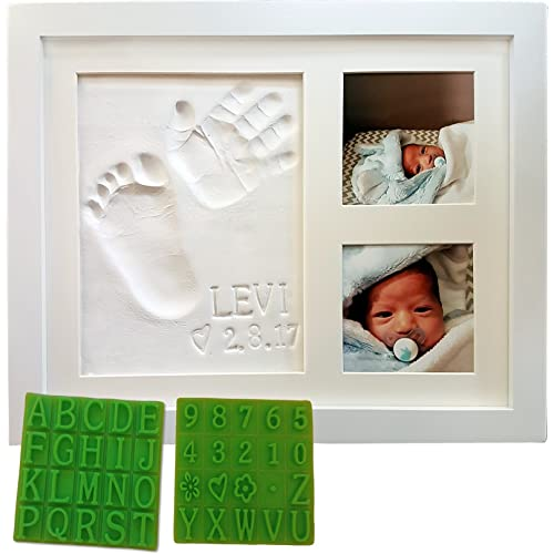 Personalized Baby Handprint Footprint Keepsake Photo Frame Kit