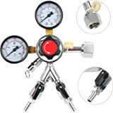YaeBrew Dual Product Premium Pro Series Dual Gauge Co2 Beer Regulator, Chrome, Home Brewing Two Product Keg Kegerator CO2 Regulator