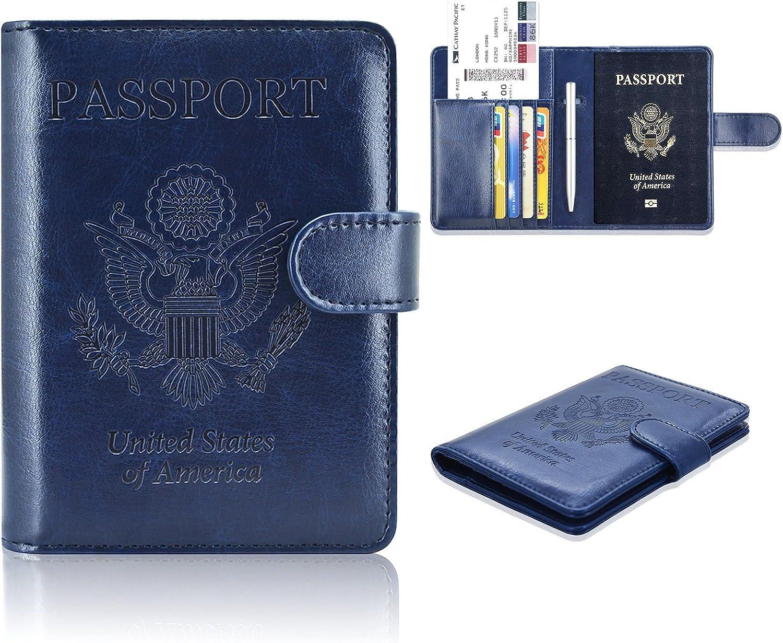 Passport Holder Cover, ACdream Protective Premium Leather RFID Blocking Wallet Travel Case for Passport,