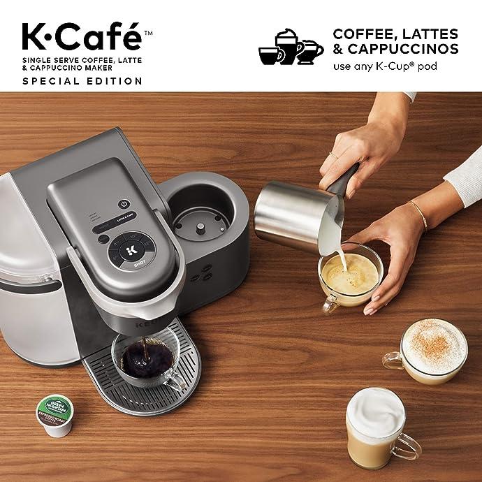 Keurig K-Cafe 拿铁卡布奇诺 美式K-cup单杯胶囊咖啡机 特别版 7.5折$149.99史低 海淘转运到手约¥1509