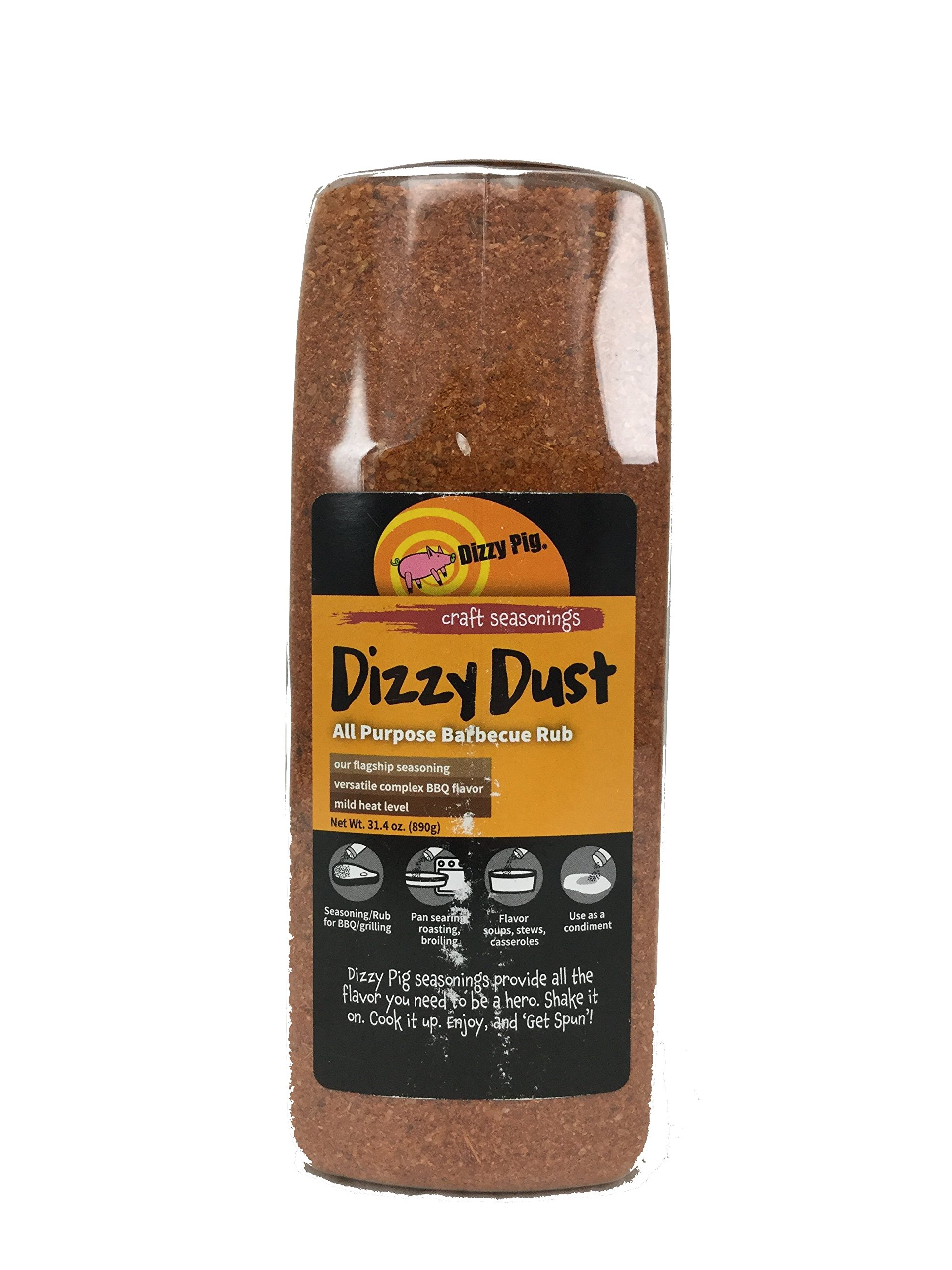 Dizzy Pig BBQ Regular Grind Rub Spice - 32 Ounce Shaker Bottle by Dizzy Pig (Image #1)