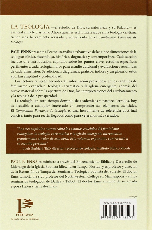 Amazon.com: Compendio Portavoz de teología (Spanish Edition)  (9780825412233): Paul Enns: Books