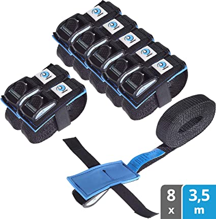 /with Lashing Lashing Strap to secure Purple or Black Fastening Fixplus Strap Pack of 4/ with special plastic with Aluminium Buckle 35/cm x 2.4/cm in Blue Red