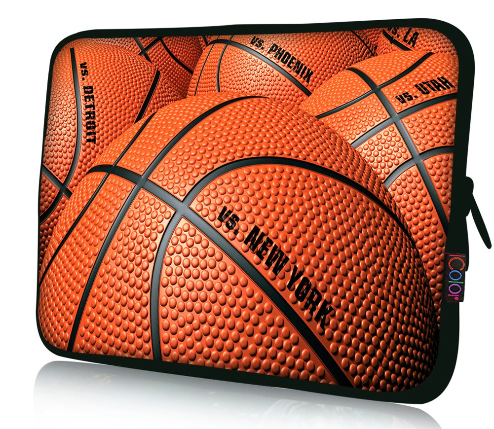 iColor Laptop Bag Tablet PC Sleeve 11.6'' 12 12.1 12.2 inch Neoprene Computer Sleeve Cover Case Pouch For 11.6~12.5'' Chromebook Ultrabook Notebook Computer-Basketball