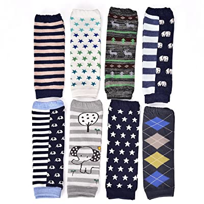 6 Pairs Toddler Girls Boys Leg Warmers, Baby Leggings Knee Pads Size 6-12 Months & 12-36 Months