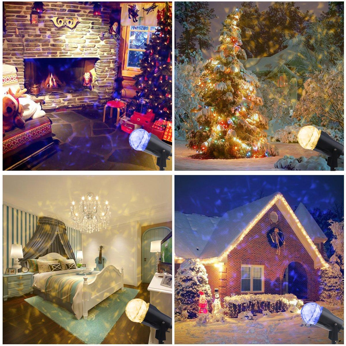YMing Christmas Projector Lights Kaleidoscope Rotating Indoor ...