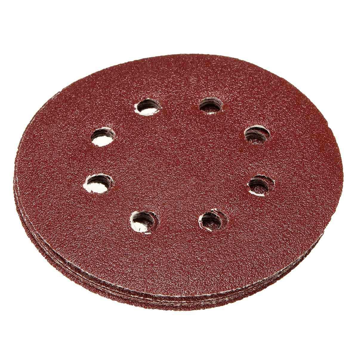 LOCHI STORE 30Pcs 5 Inch 123mm 8 Holes Polishing Sand Paper Grit 80 240 400 800 1000 2000# Sanding Discs Hook /&Loop Set for Grinding Machine NEW