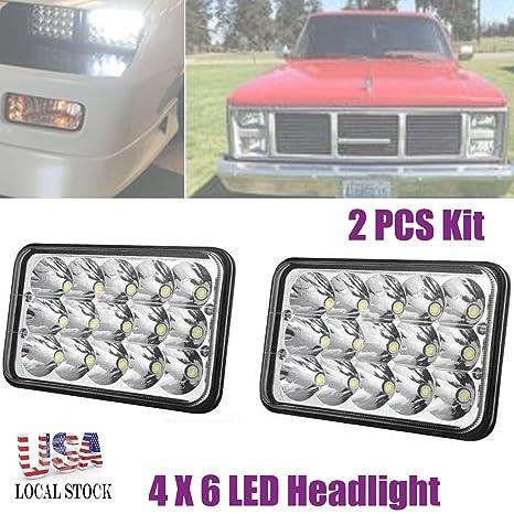Amazon.com: 4X6 Inch LED Headlights for Trucks Cars GMC ... on