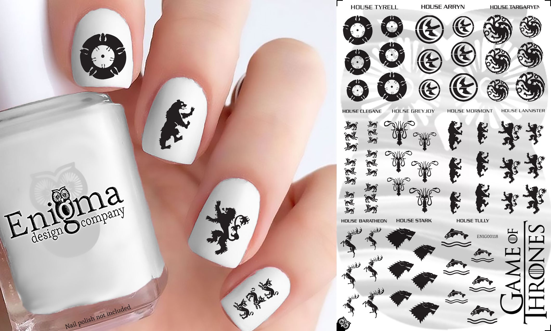 Amazon.com : Game of Thrones - Waterslide Nail Decals - 50pc : Beauty