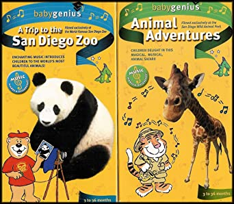 Amazon Com Baby Genius 2 Vhs Videos A Trip To The San Diego Zoo