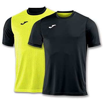 Joma Camiseta Combi Reversible Negro-Amarillo M/C - Camiseta técnica de Manga Corta, Unisex, Negro - (Negro): Amazon.es: Deportes y aire libre