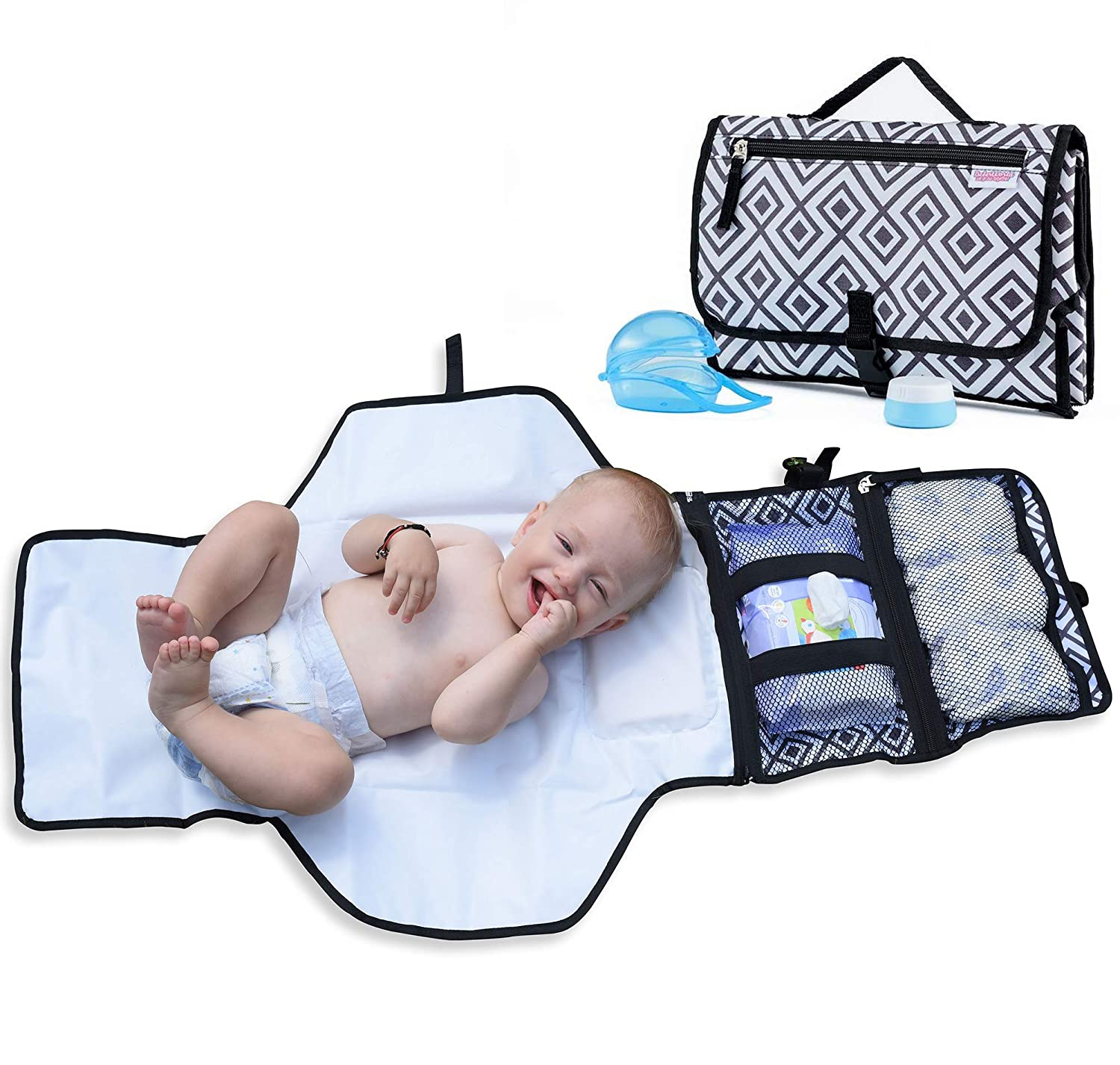 Portable Baby Changing Mat Travel Folding Diaper Nappy Changer Wipes Pad New FI