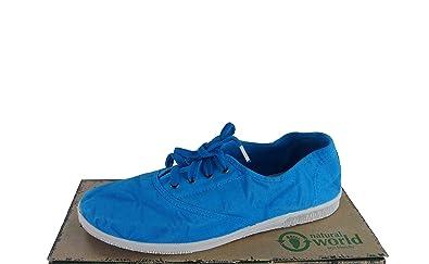 Natural World Damen Bota Halbschuhe Blau Gr. 38: Schuhe