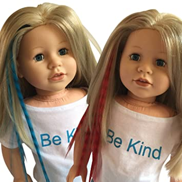 Amazon clip in hair extensions blue red for 18 inch dolls clip in hair extensions blue red for 18 inch dolls and american girl dolls pmusecretfo Image collections