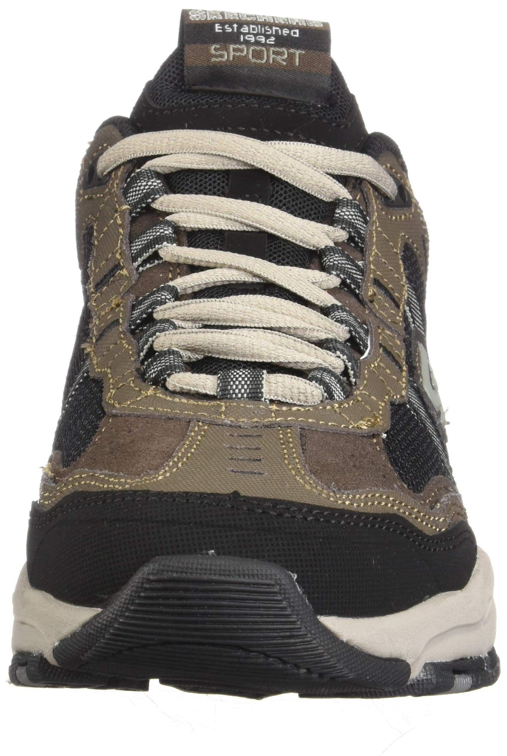 Skechers Sport Men's Vigor 2.0 Trait Memory Foam Sneaker, Brown/Black, 7 M US by Skechers (Image #4)