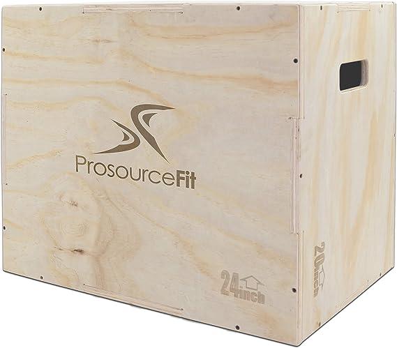 Prosource - Caja de Saltar 3 en 1 de Madera para Crossfit, Agilidad, Entrenamiento de Salto Vertical y Ejercicios Plyo, ps-1251-pwb-l, Light Wood, 30/24/20, Light Wood, 30/24/20: Amazon.es: Deportes y aire libre