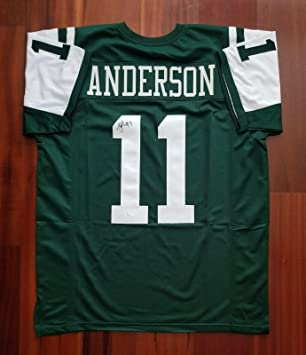 3157b147817 Image Unavailable. Image not available for. Color: Robbie Anderson Autographed  Signed Jersey New York Jets ...