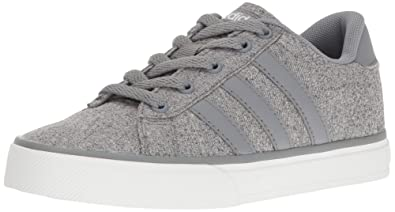 adidas NEO Boys' Daily K Sneaker, Grey/Tech Grey/White, 10.5