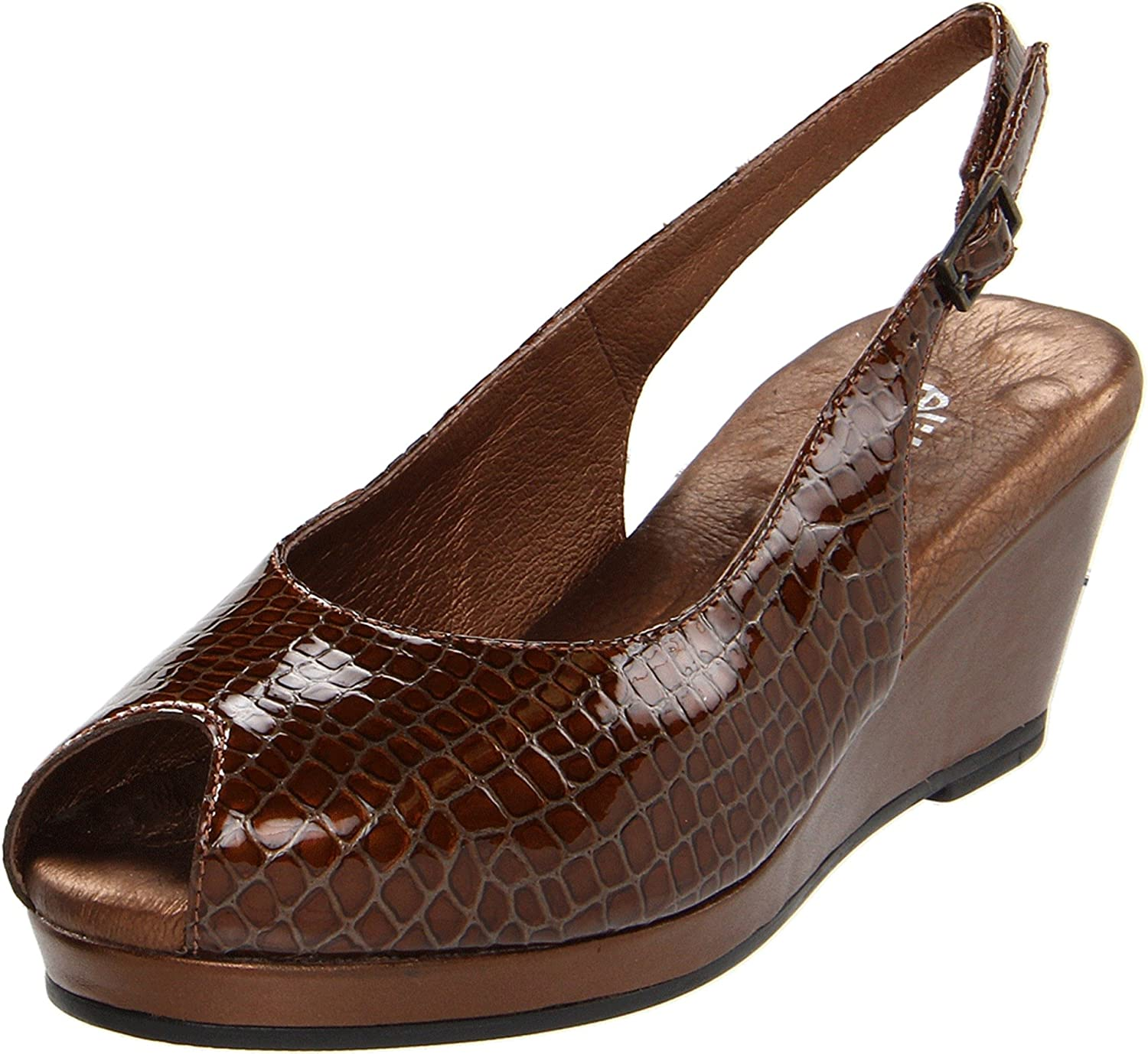 Walking Cradles Women's Natasha Pump B004127WIQ 9 B(M) US|Dark Copper Baby Gator