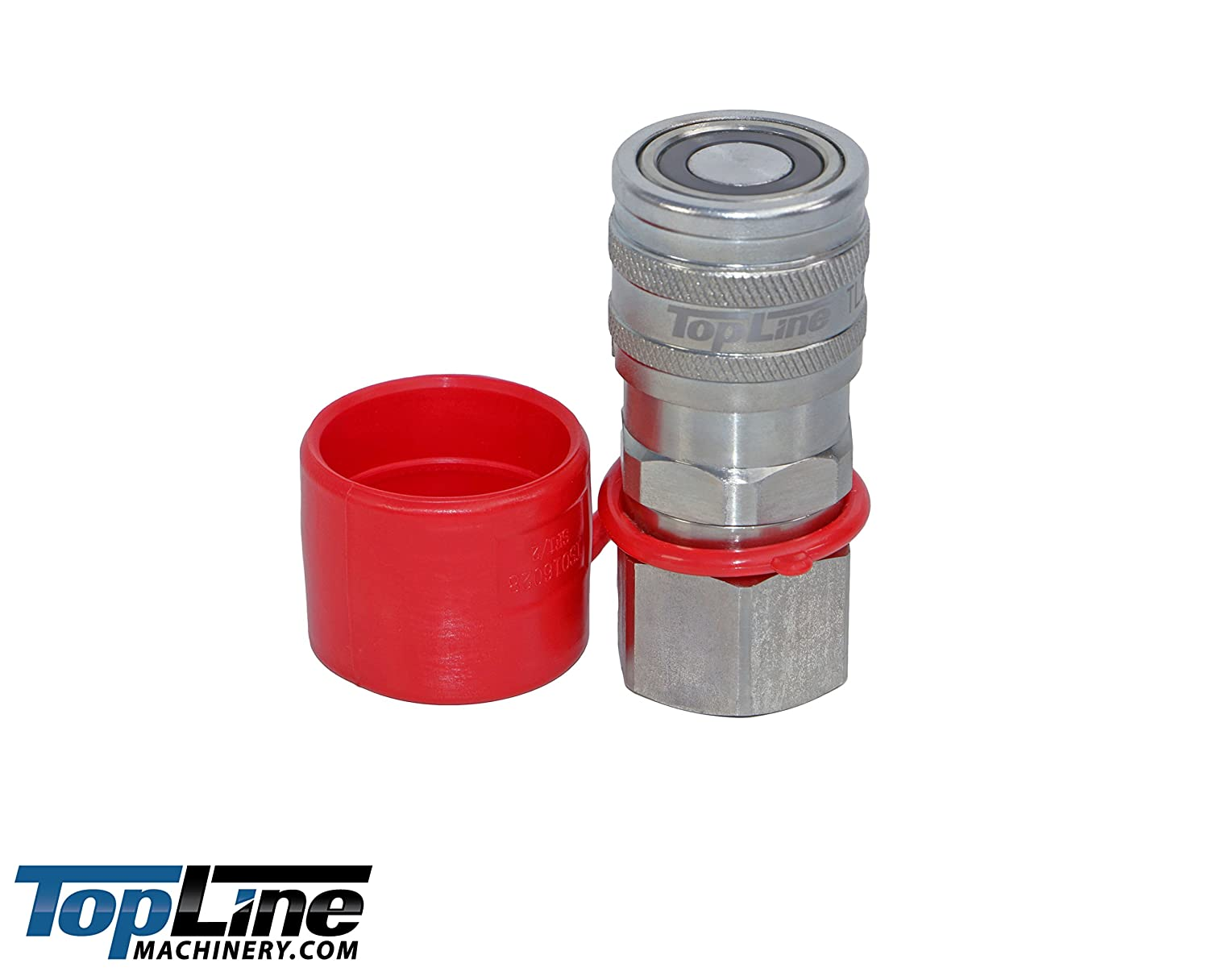 TL19 3//8 NPT Thread Flat Face Quick Connect Hydraulic Coupler 1//2 body size w//dust caps Coupling Bobcat Skid Steer Plug