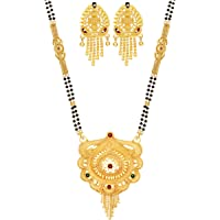 Mansiyaorange Party Casual Glorious one Gram Gold Hand Meena/Tanmaniya/Mangalsutra/Mangal Sutra for Women Gold Long Chain(30 inch)